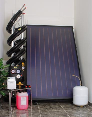 Solarpakete mit Flachkollektoren