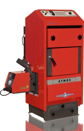 Komplettpaket Atmos Kombi-Heizkessel DC25SP 6-25KW Pellets-Öl ...